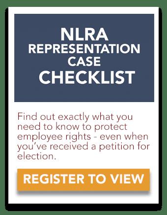 NLRA Representation Case Checklist
