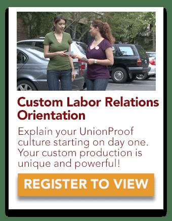 custom labor relations orientation