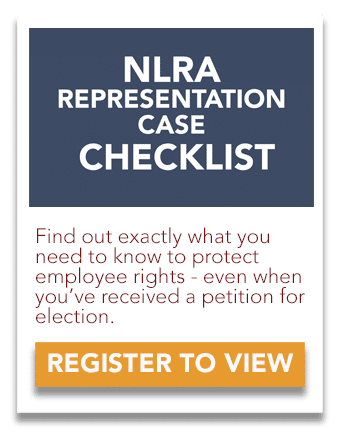 NLRA Representation Case Checklist