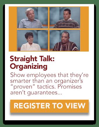 Straight Talk: Union Organizing