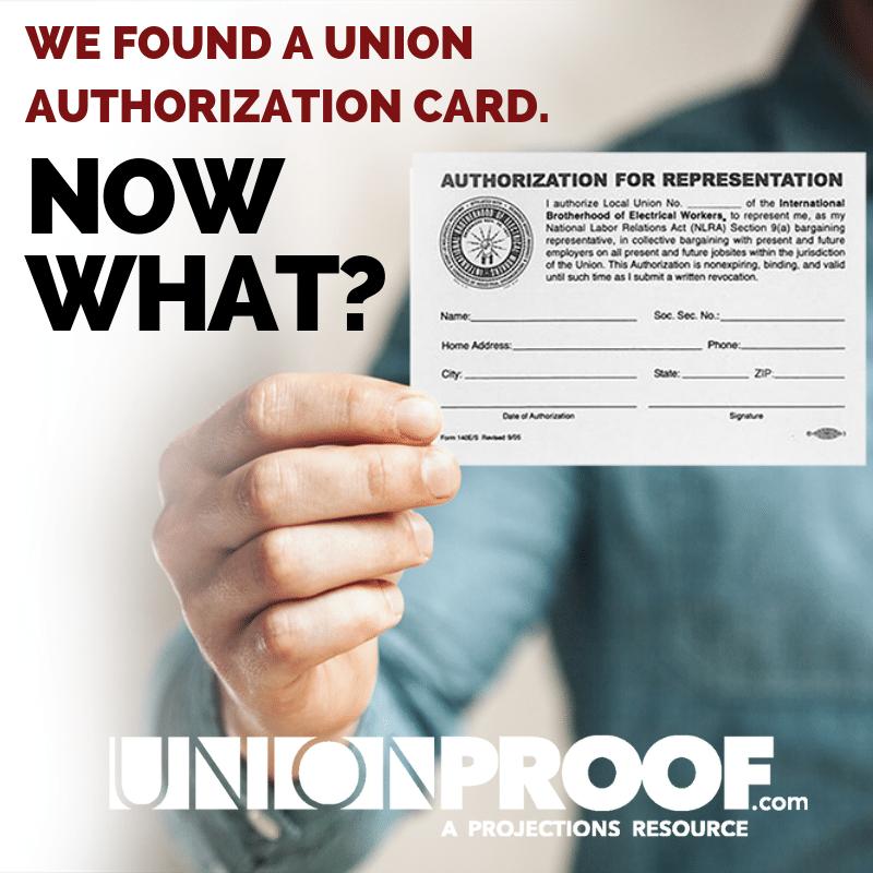 union authorization card